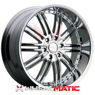 Set of 4 New 20 Menzari Z08 5x120 20 Wheels Rims Chrome