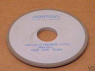Norton SD150 R100B69 5 32 Diamond Grinding Wheel