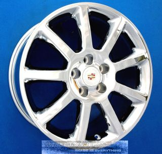 CADILLAC CTS STS DTS 18 INCH CHROME WHEELS 18 RIMS DEVILLE SEVILLE OEM