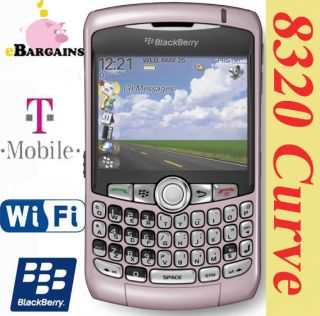 NEW Pink RIM Blackberry Curve 8320 WIFI PDA cell phone (T Mobile