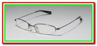 PEOPLES 668 49 18 135 GRAY THIN ARMS SEMI RIM EYEGLASS GLASSES FRAMES