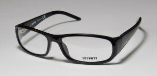 New Ferrari 5019 57 15 130 Spring Hinges Black Full Rim Eyeglasses