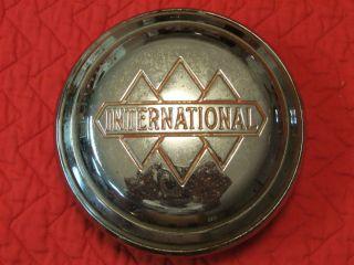 Vintage International Pickup Truck Center Hubcap