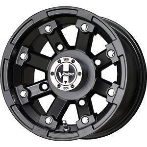 New 12x7 4x110 Vision ATV Black Wheel Rim