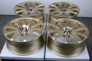 4x114 3 Gold Effect Wheels Integra Cobalt Pontiac G5 Civic Lancer Rims