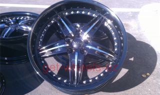 20 Mercedes Benz Wheels Staggered Black Finish C Class CL CLS Class