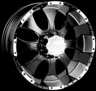 ion Alloy Wheels 137 Black w Machine Rim Rims Wheel 8 x 170 8x170 9