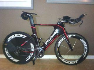 Specialized Triathlon Bike w Zipp Racing Wheels
