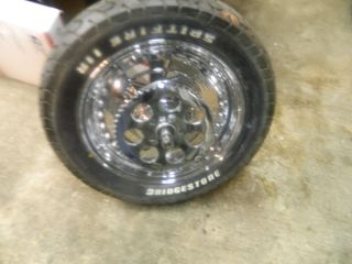 Harley Custom 16 inch Chrome Plated Rear Wheel CCI w New Spitfire Tire