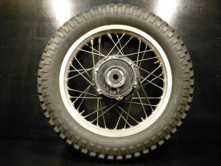 1978 Yamaha XT500 XT 500 TT500 TT 500 Rear Wheel Rim Tire Hub Yokohama