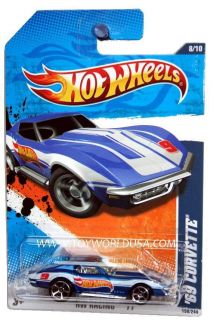 2011 Hot Wheels HW Racing 158 69 Chevy Corvette