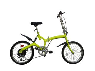 Yellow Color 6 Speed 20 Alloy Wheels College School Folding Bike
