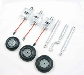 Full Metal Electric Retracts Full Set with Struts and Wheels