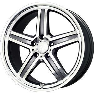 New 17x8 5x112 Mandrus Mannheim Gun Metal Wheel Rim
