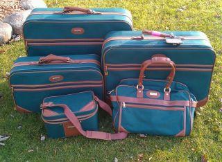 Piece Dark Green Jaguar Luggage Set on Wheels