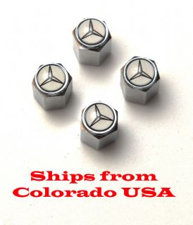 Mercedes W202 W204 W210 W211 E320 Tire Valve Stem Caps