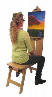 Bench Plein Air Painting Wood Field Easel Art Artist Wheels