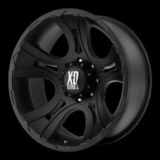 18 inch Black Wheels rims KMC XD 801 FORD F250 350 superduty 8 lug