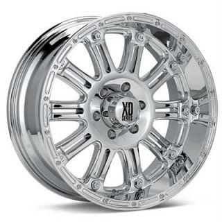 22 inch KMC XD Hoss Chrome Wheels 8x170 Ford F250 F350