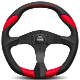 Momo Quark Steering Wheel Red Golf Jetta Lancer Eclipse
