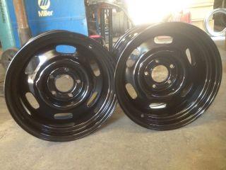 Centered Chrysler Hemi Dodge Mopar Cop Car Rally Wheels Set of 2