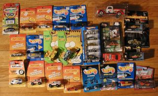 28 Matchbox Hot Wheels Miniature Cars Trucks Lot Pepsi Cola Etc