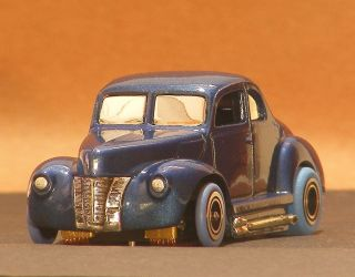 Tyco 40 Ford Coupe Riggen Wheels Custom Chassis