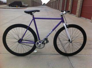 Fixed Gear Track Bike Vivid Bicycles New Purple Frame Black Rim