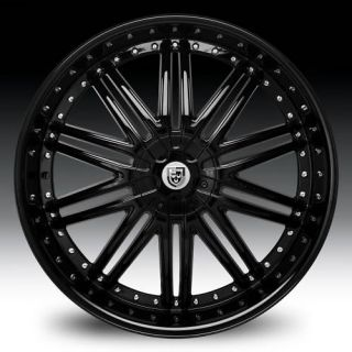 10 Black Wheel Set Staggered 20x8 5 20x10 Lexani Rims for 5LUG