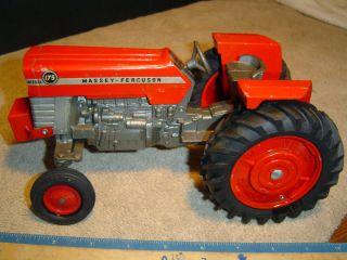 Farm Tractor Massey Ferguson 175 Metal Rear Rims Ertl USA No Box 1 16