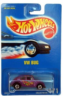1992 Hot Wheels 171 VW Bug Beetle Blue Card