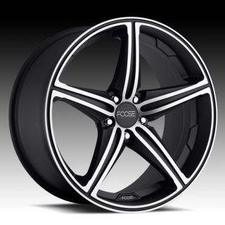 17 FOOSE Speed Wheel Set 17x7 5 Black Machined rwd 5 Lug Rims