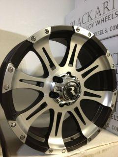 20 inch Black Raceline Raptor Wheels Rims Chevrolet Silverado Tahoe