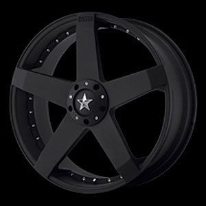 American Racing 77588004742 Rockstar Car Series 775 Black Wheel
