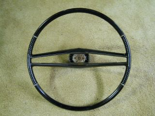 Riviera Electra 225 LeSabre Wildcat Black Steering Wheel & Trim Ring