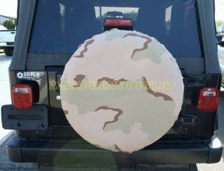 US Army Military 3 Color Desert Tire Cover Brand New
