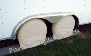 Wheel Tire Covers camper Car Trailer Truck RV 28 30 Diameter Fits 225