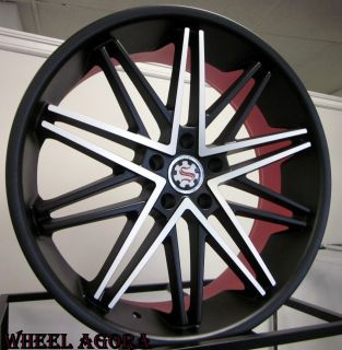 22 inch Wheel Rim Tire Package Staggered MC 300 Charger Magnum