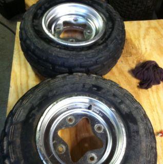 Suzuki LTZ400 Z400 KFX 400 Front Rims Wheels N Tires OEM