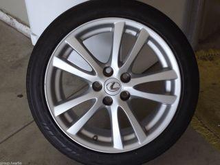 Genuine Lexus IS250 is350 18 Silver Alloy Rim Wheel Rear Piece