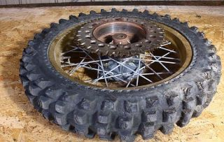 1981 Husqvarna 250 CR250 Rear Wheel Rim Tire OEM