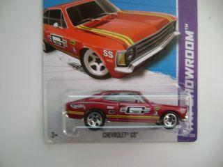 Hot Wheels 2013 Red Chevrolet SS HW Showroom E Case 241 250