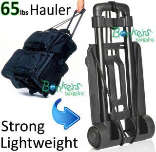 Luggage Trolley Kart Cart on Wheels Telescopic Pull Handle Fold Up