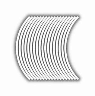 9mm Wheel Rim Tape Striping Stripes Stickers White