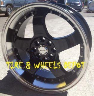 17 inch Redline 123 Black Rims Tires Lexus Cadillac Camry Civic Accord