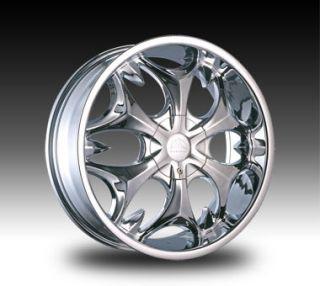 22 Chrome B3S Rim Wheels Tires Dodge RAM Navigator GMC