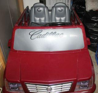CADILLAC ESCALADE POWER WHEELS RIDE ON CAR   BEAUIFUL BURGUNDY COLOR