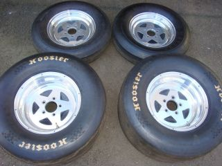 Bogart classic star 15 slicks pro drag radial wheels rims aluminum