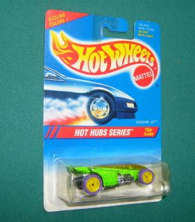 1995 Hot Wheels Hot Hubs, #3 / 4, Shadow Jet, Green Card #310, Hhyw