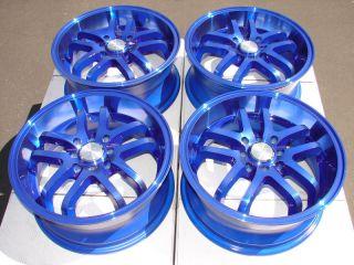 Tires Wheels Blue Civic Accord MR2 Yaris Integra CRX 4 Lug Rims